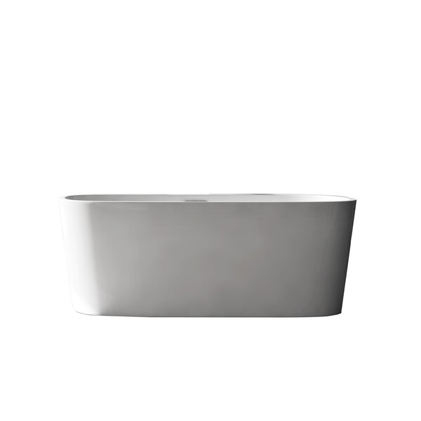 Creswell Acrylic 67 x 29.5 Freestanding Soaking Bathtub by Aston