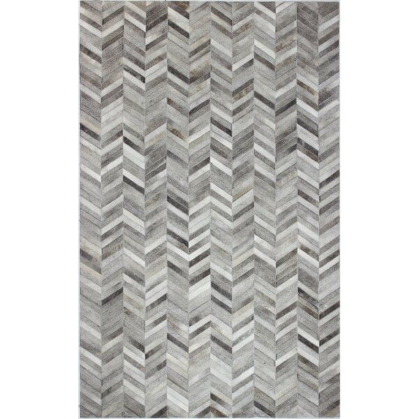 Wright Cow Hide Grey Area Rug by Trent Austin Desi