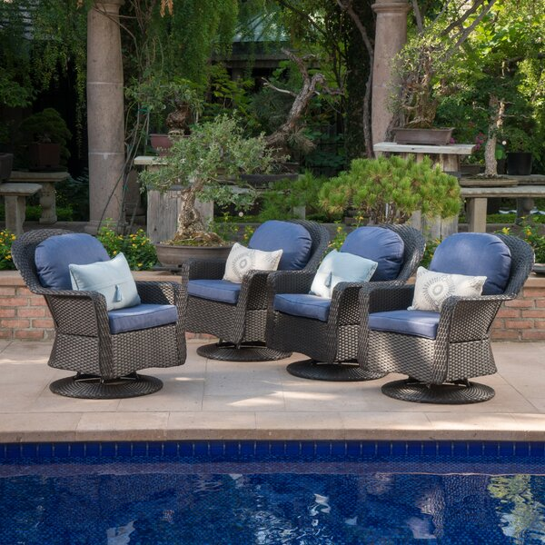 Patio Chair with Cushions (Set of 4) by Birch Lane™