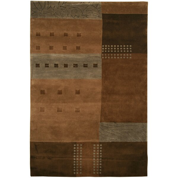 Sul Hand-Knotted Brown Area Rug by Meridian Rugmakers