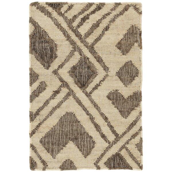 Zinnia Handmade Flatweave Jute/Sisal Brown Area Rug