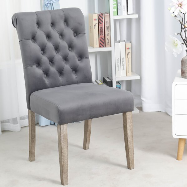 Kamron High Back Tufted Upholstered Dining Chair (Set of 2) by Ophelia & Co.
