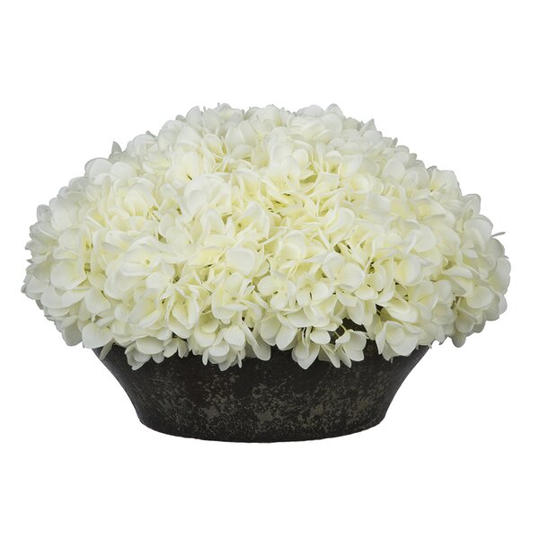 Hydrangea Centerpiece in Bowl by House of Silk Flo