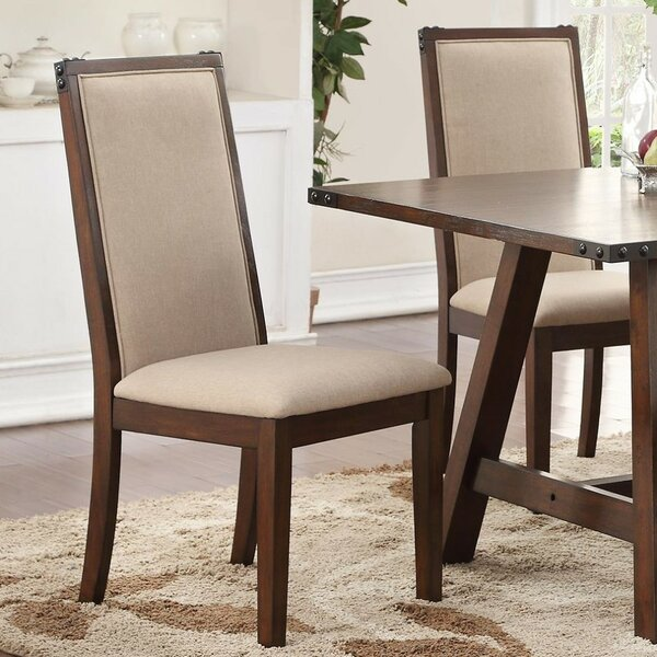 Lamb Upholstered Dining Chair (Set of 2) by Alcott Hill