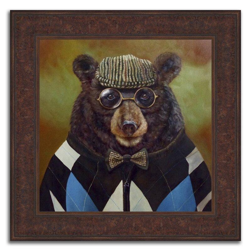 Winston Porter \'Father Bear\' Framed Acrylic Painting Print   Wayfair