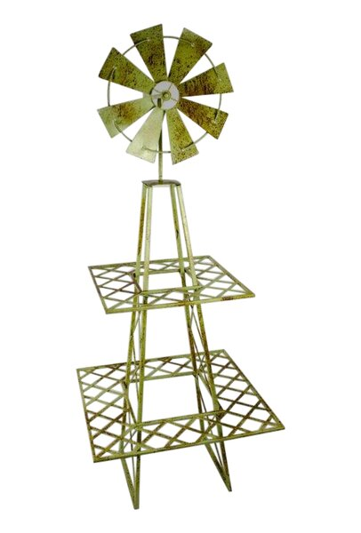 2 Tier Metal Windmill Plant Stand by Sagebrook Home
