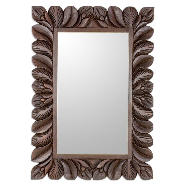 Piazza Hanging Flower Garden Wood Accent Mirror by Bloomsbury Market