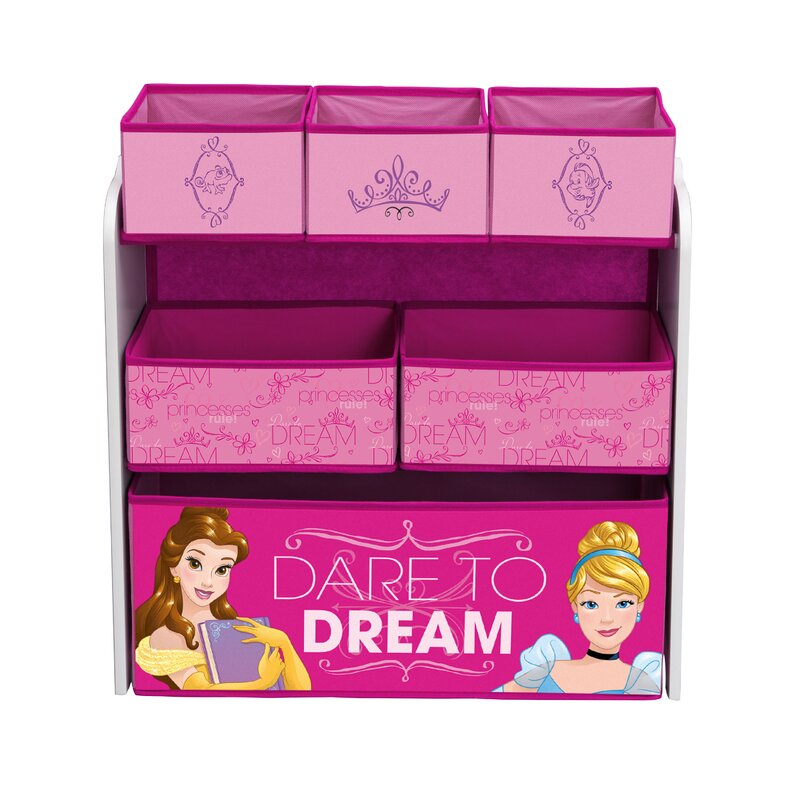 Delta Children Disney Princess Multi Bin Toy Organizer Wayfair
