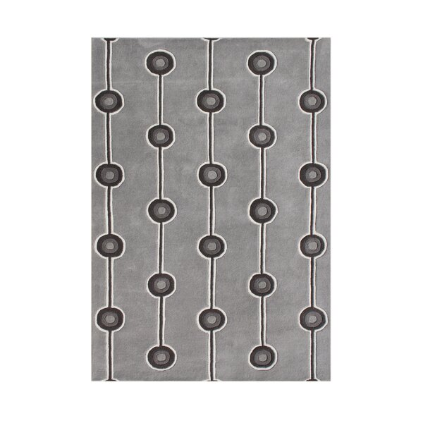 Hand-Tufted Steel Gray Area Rug by The Conestoga Trading Co.