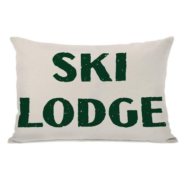 Ski Lodge Lumbar Pillow by One Bella Casa