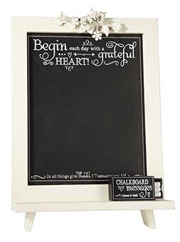 Grateful Heart Free Standing Chalkboard by CB Gift