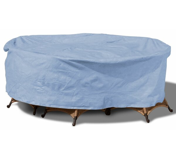 All-Seasons Round Patio Table and Chairs Combo Cover by Budge Industries