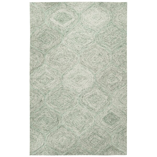 Marsh Hand-Tufted Green Area Rug by Gracie Oaks