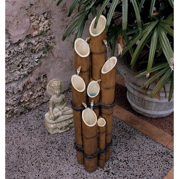 Resin/Bamboo Sculptural Fountain by Wildon Home ®