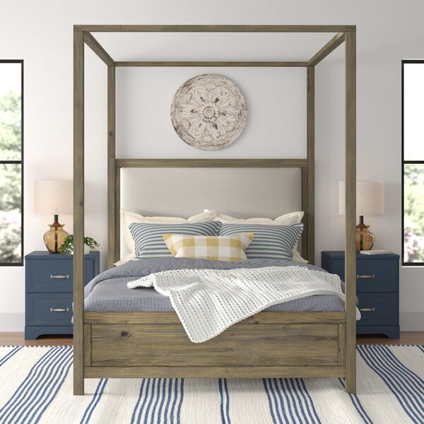 Topsfield Norfork Queen Canopy Bed by Three Posts Teen