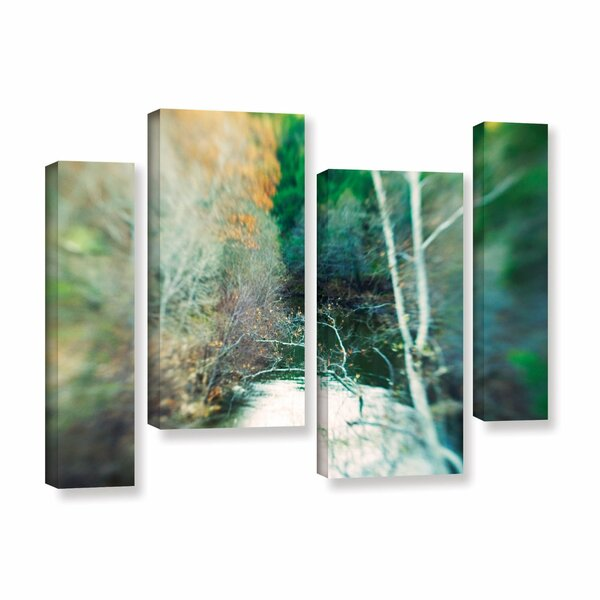 Calm River by Elena Ray 4 Piece Photographic Print on Wrapped Canvas Set by ArtWall