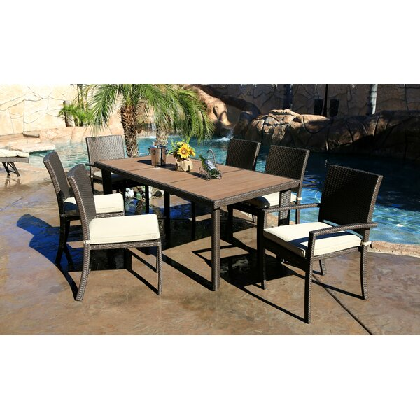 Cicero 7 Piece Dining Set with Cushions by Bayou Breeze