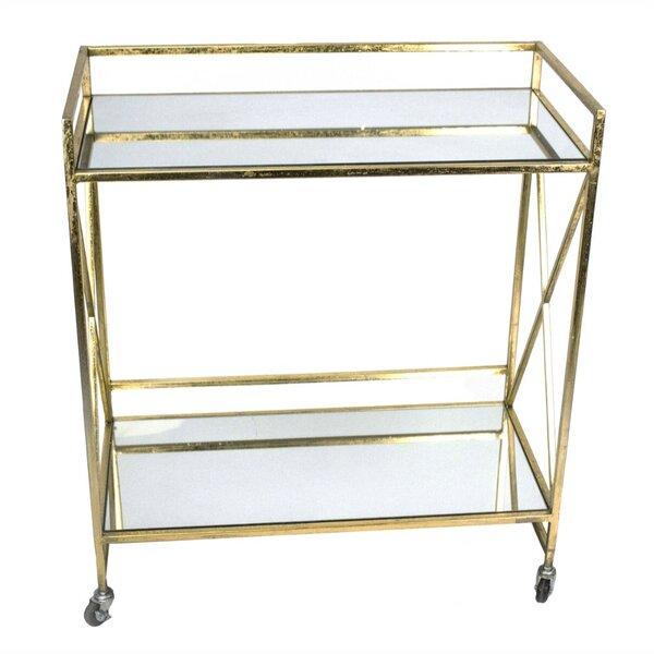 Dumas Mirrored Bar Cart by House of Hampton