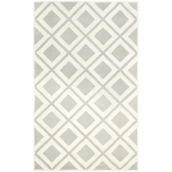 Wilkin Gray/Ivory Area Rug by Wrought Studio