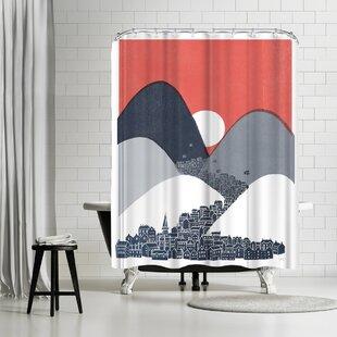 David Fleck Midnight Sun Shower Curtain