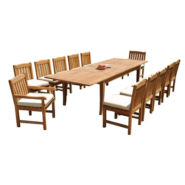 Brennen 13 Piece Teak Dining Set by Rosecliff Heights