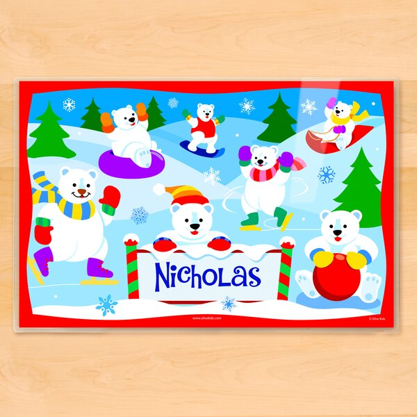 Winter Polar Bears Personalized Placemat by Olive Kids