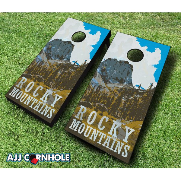 Rocky Mountains Cornhole Set by AJJ Cornhole