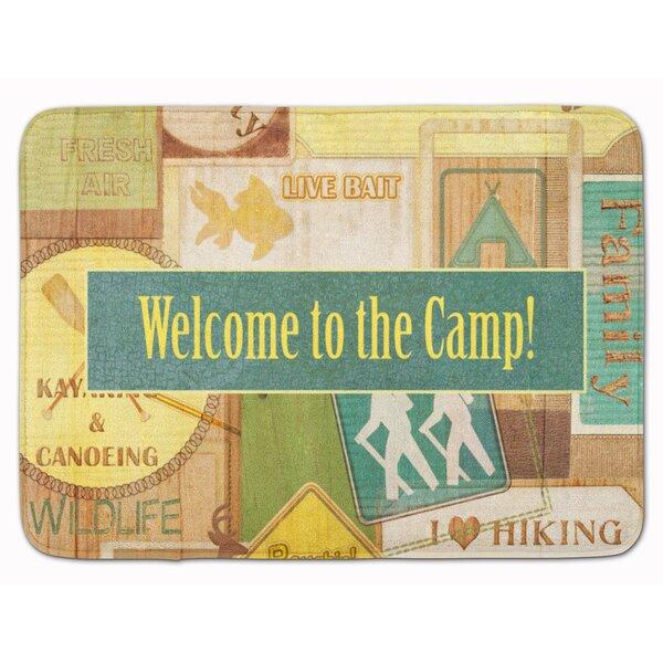 Welcome to the Camp Memory Foam Bath Rug