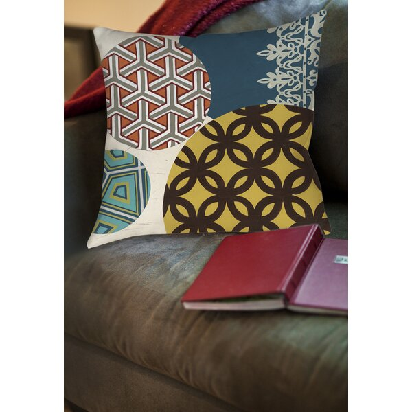 Paper Lanterns 1 Printed Throw Pillow by Manual Woodworkers & Weavers