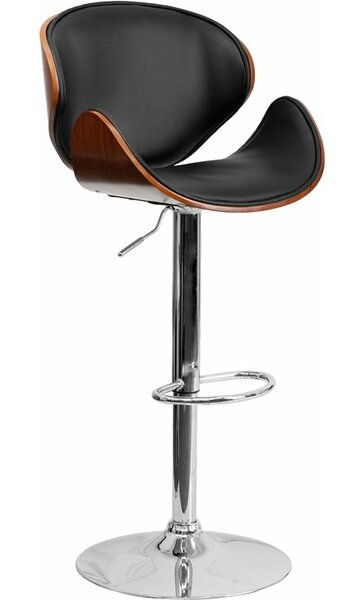 Crotty Adjustable Height Swivel Bar Stool by George Oliver