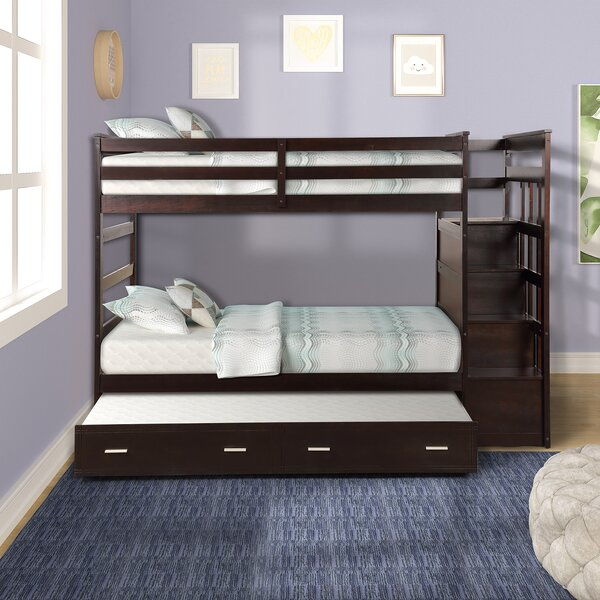 Esita Twin over Twin Bunk Bed with Trundle by Harriet Bee