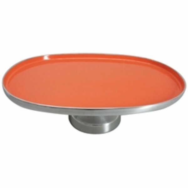 Steinbach Oval Shaped Aluminum Footed Platter by Latitude Run