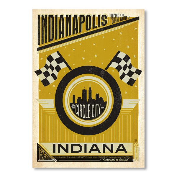 Indianapolis Circle City Vintage Advertisement by East Urban Home
