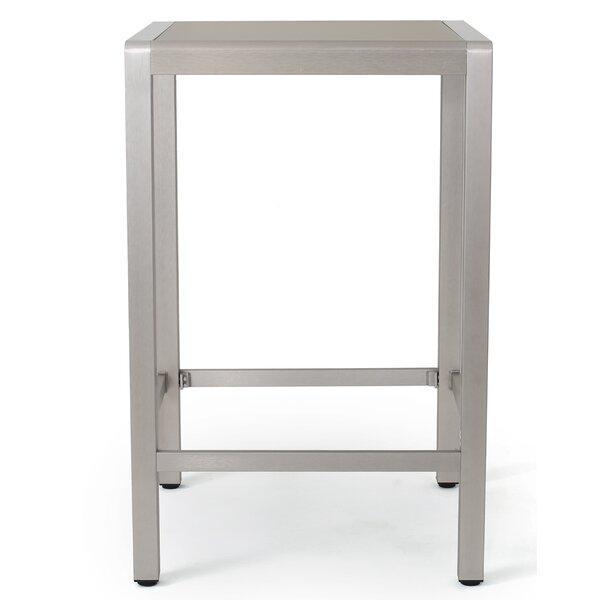 Durbin Outdoor Aluminum Bar Table by Wade Logan