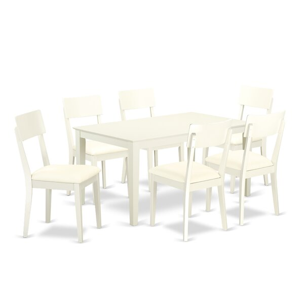 Smyrna 7 Piece Solid Wood Dining Set by Charlton Home