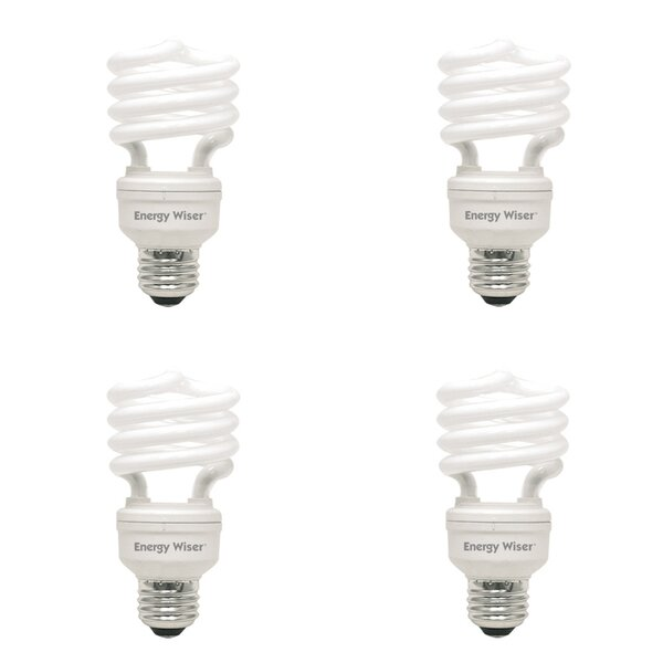 E26 CFL Spiral Light Bulb (Set of 4) by Bulbrite Industries