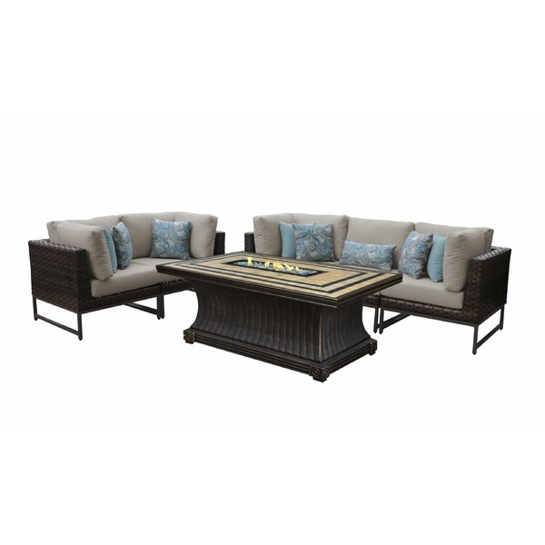 Barcelona 6 Piece Sectional Seating Group with Cushions by TK Classics