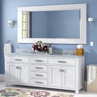 Buy luxury Raven 72 Double Bathroom Vanity Set with Large Mirror ByAndover Mills