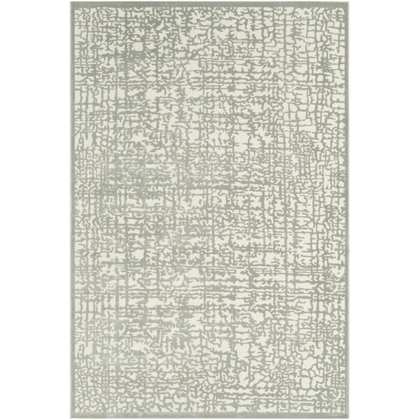 Barclee Abstract Seafoam/Beige Area Rug by House of Hampton
