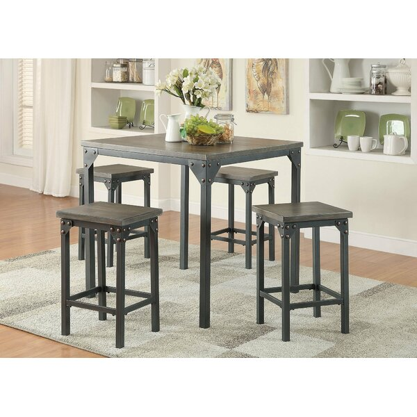 5 Piece Counter Height Solid Wood Dining Set by Infini Furnishings
