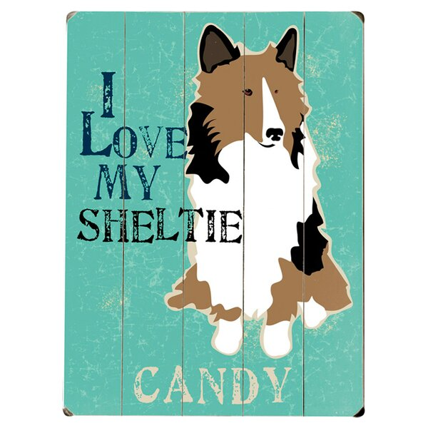 Personalized Sheltie Graphic Art Print Multi-Piece Image on Wood by Artehouse LLC