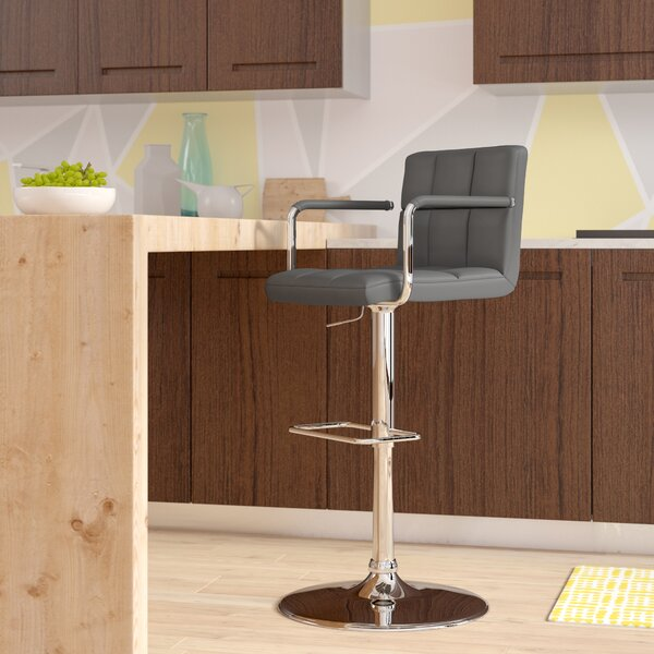 Aripeka Adjustable Height Bar Stool by Wade Logan