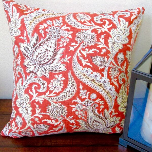 Classic Vintage Paisley Modern Contemporary Cottage Indoor Throw Pillow by Artisan Pillows