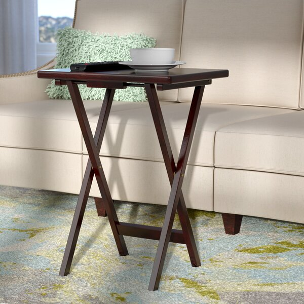 Bezkov Rectangular TV Tray Table (Set of 4) by Latitude Run