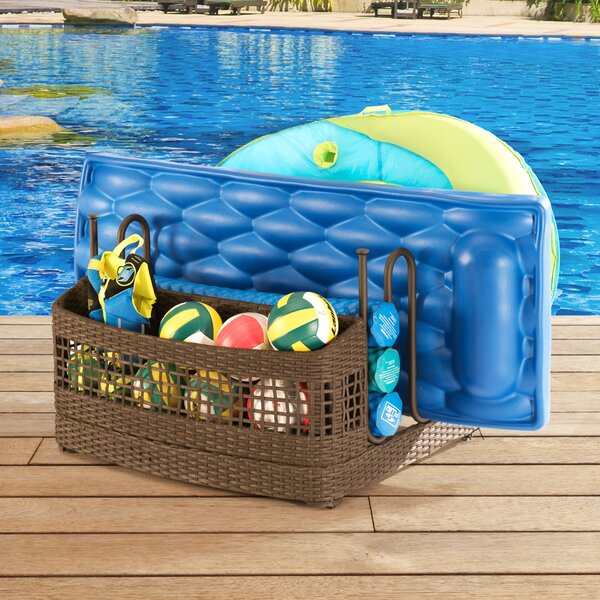 Pool Float Wicker Deck Box by Sunjoy Sunjoy
