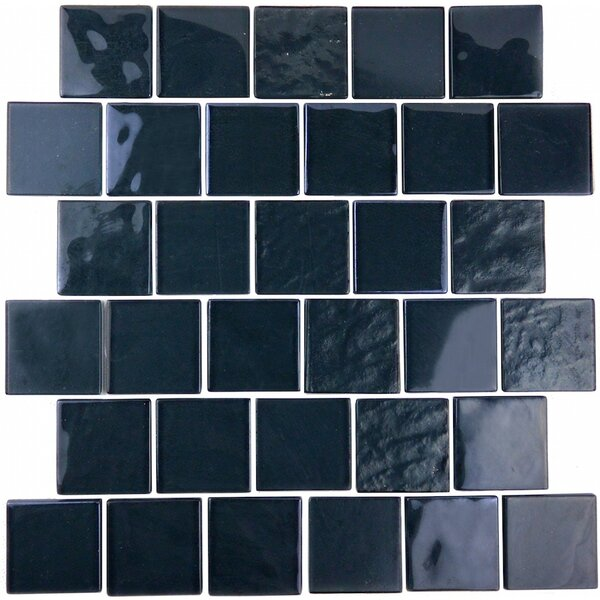 Landscape 2 x 2 Glass Mosaic Tile in Dark Gray by Abolos