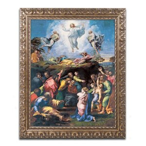 The Transfiguration 1519-20 by Raphael Framed Painting Print by Trademark Fine Art