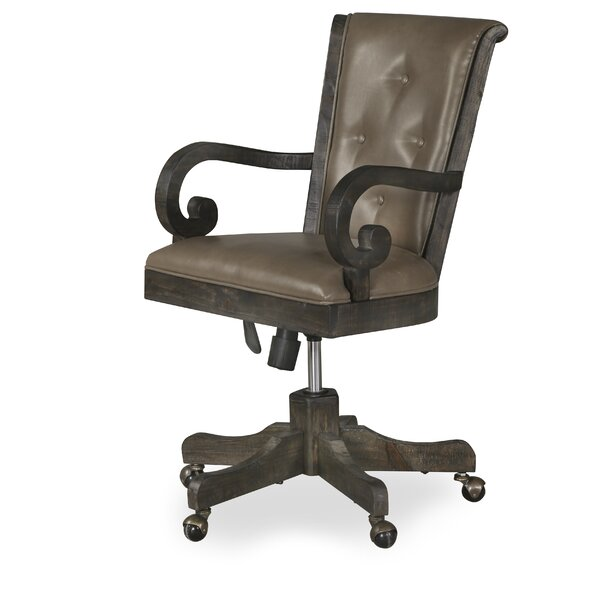 Ellenton Fully Upholstered Mid-Back Executive Chair by Greyleigh