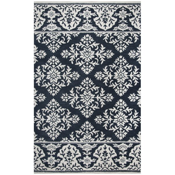 Hulme Hand-Tufted Wool Navy Area Rug by Alcott Hill