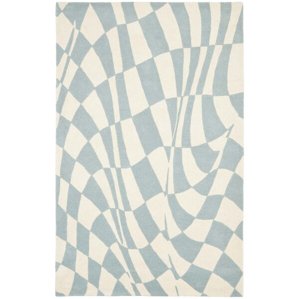 Peralta Light Blue / Ivory Contemporary Rug by Zipcode Design